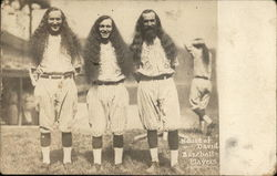 Three Baseball Players with Long Hair