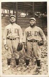 Two Baseball Players Postcard