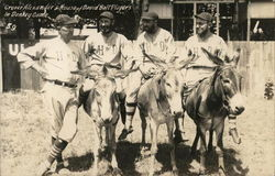 Grover Cleveland Alexander & House of David Ball Players Donkeys Postcard