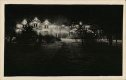 A Large House, Lit at Night
