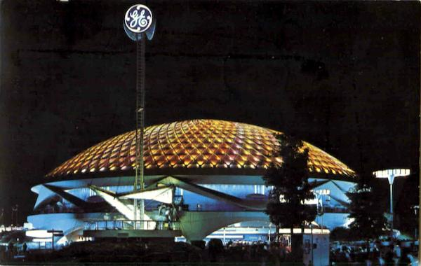 General Electric Pavilion At Night 1964 NY Worlds Fair