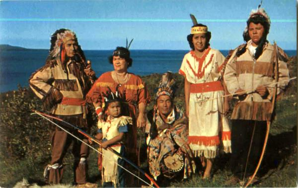 Indians In Tribal Dress, Wikwemikong Manitoulin Island Ontario Canada