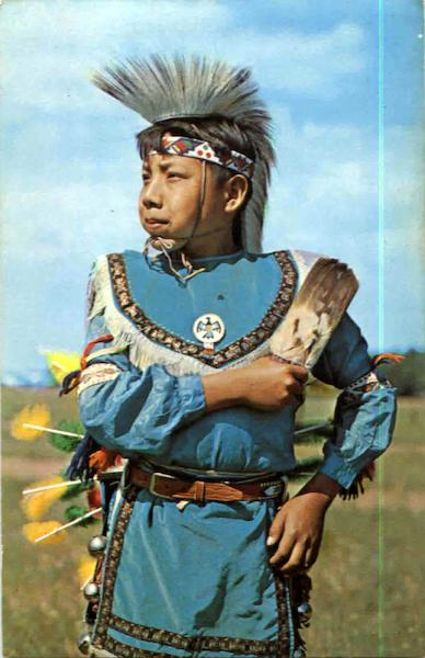 Indian Boy In Full Dress Native Americana