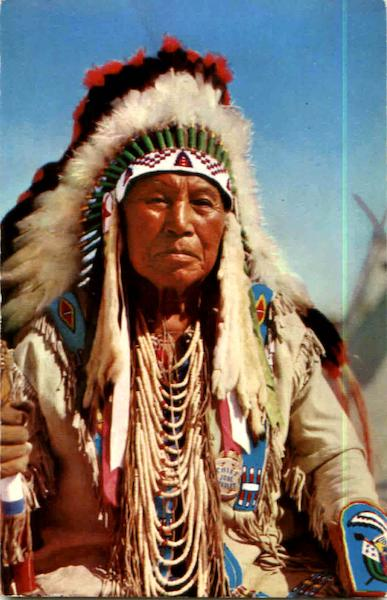 Job Charley, Chief Of The Yakima Tribe Native Americana