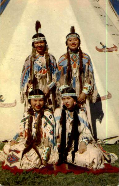Four Indian Maids Native Americana