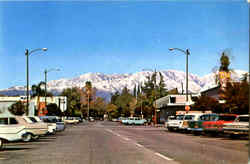 Snow Capped Mountain Range As Seen From Yale Ave