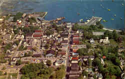 Aerial View Of Bar Harbor And Frenchman's Bay