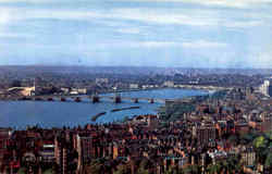 Charles River And Back Bay Skyline Postcard