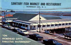 Sanitary Fish Market And Restaurant Postcard