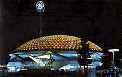 General Electric Pavilion At Night
