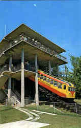 Incline Car And Station At The Top Of Lookout Mountain