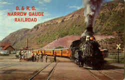 D. & R. G. Narrow Gauge Railroad Postcard