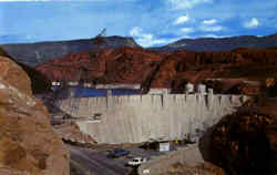 Hoover Dam And Lake Mead Postcard