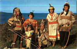 Indians In Tribal Dress, Wikwemikong