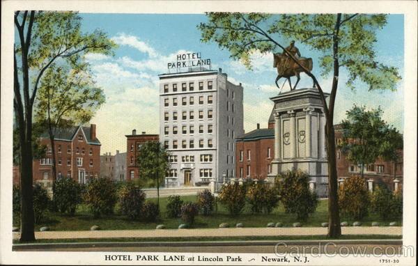 Hotel Park Lane At Lincoln Park Newark Nj Postcard