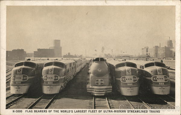 Flag Bearers Of The World's Largest Fleet of Ultra-Modern Streamlined Trains