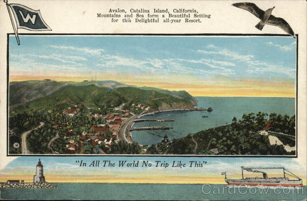 View of Avalon Santa Catalina Island California
