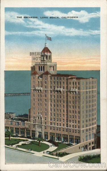 The Breakers Hotel Long Beach, CA Postcard
