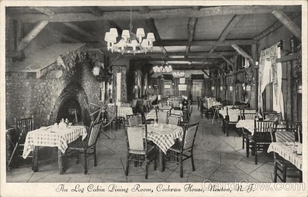 Cochran House - Log Cabin Dining Room Newton New Jersey