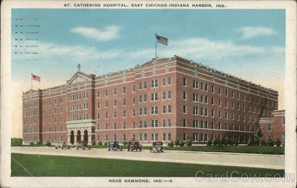 st catherine hospital east chicago indiana harbor in postcard. Black Bedroom Furniture Sets. Home Design Ideas