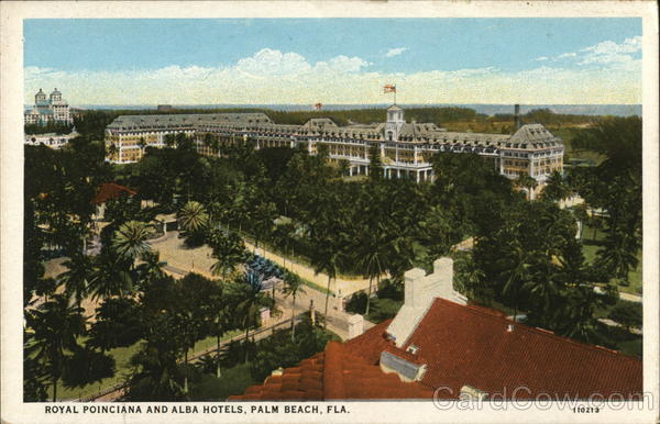 Royal Poinciana and Alba Hotels Palm Beach Florida