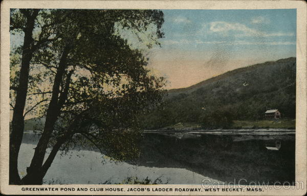 Greenwater Pond and Club House, Jacob's Ladder Roadway West Becket Massachusetts
