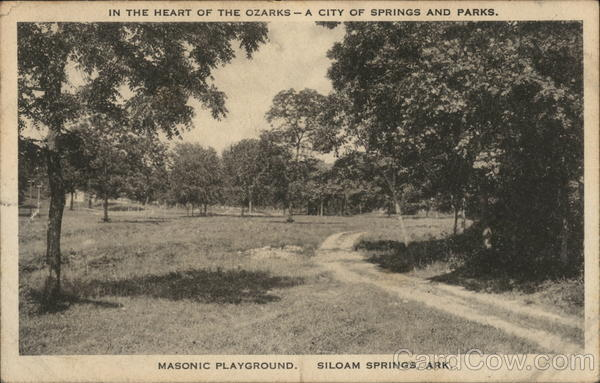 In the Heart of the Ozarks-A City of Springs and Parks Masonic Playground Siloam Springs Arkansas