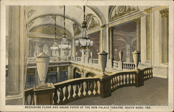 Mezzanine Floor and Grand Foyer of the New Palace Theatre South Bend Indiana