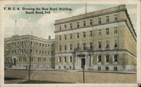 Y.M.C.A. Showing the New Boys' Building South Bend Indiana