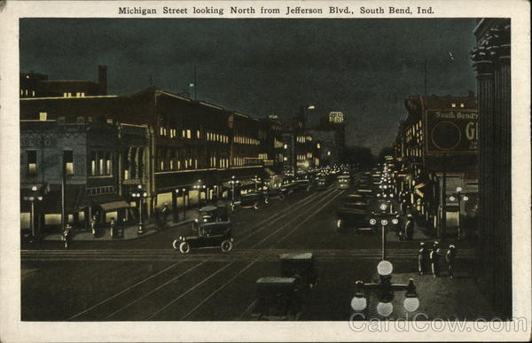 Michigan Street looking North from Jefferson Blvd. South Bend Indiana