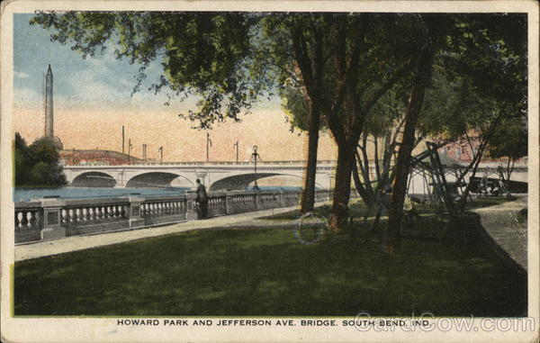 Howard Park and Jefferson Ave. Bridge South Bend Indiana