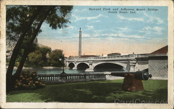 Howard Park and Jefferson Street Bridge South Bend Indiana