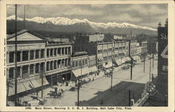 Main Street, Showing Zions Cooperative Mercantile Institution