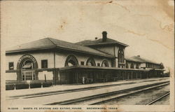 Santa Fe Station and Eating House Postcard
