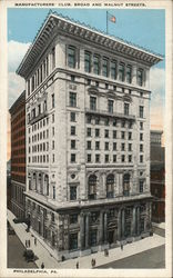 Manufacturers' Club, Broad and Walnut Streets