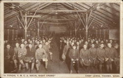 """A Typical Y.M.C.A. Social Night Crowd,"" Camp Lewis"