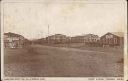 Looking East on California Ave. Camp Lewis