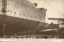 "Launch of Cunard White Star Liner ""Queen Mary"" By H M The Queen of England September 26th, 1934"