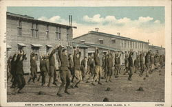 Base Hospital Corps Excercising at Camp Upton, Yaphank