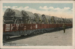 Supply Train on Railroad Cars