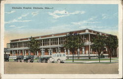 Chickasha Hospital Postcard
