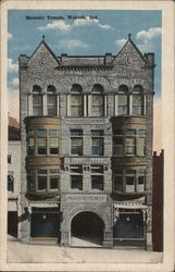 Masonic Temple Postcard