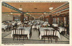Portion of Famous Hotel Rosslyn Dining Room. Fifth and Main Streets