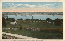 Bird's Eye View of New London from Port Griswold, Groton