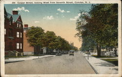 Cooper Street, Looking West from Seventh Street Postcard