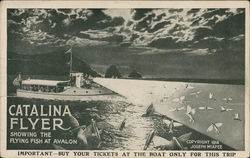 Catalina Flyer Showing Flying Fish at Avalon