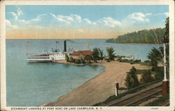Steamboat Landing at Port Kent on Lake Champlain, NY