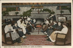 Ye Alpine Tavern - Great Fireplace