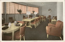 Room with Tables, Chairs and Curtained Windows