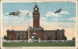 U.S. Naval Training Station Postcard